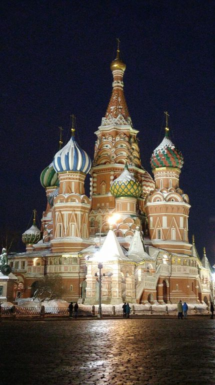 St Basil's Cathedral by night