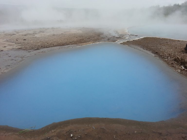Volcanic pools, Geysir, Iceland
