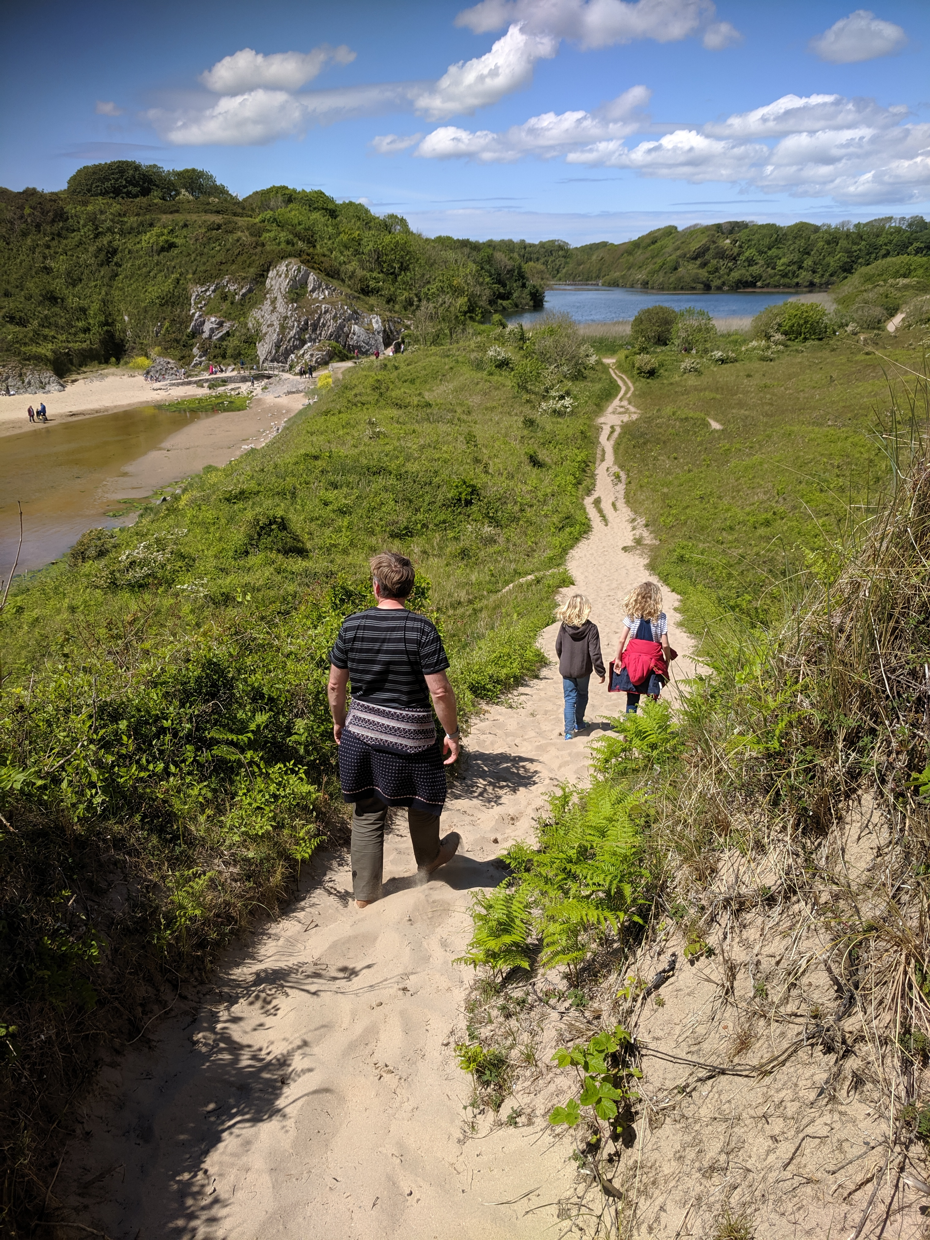 Path from Broadhaven Beach to Bosherston Lilyponds, Pembrokeshire