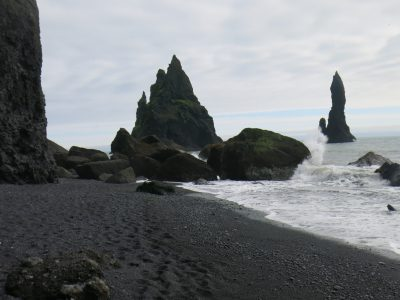 Sea stacks at Reynisdrangar