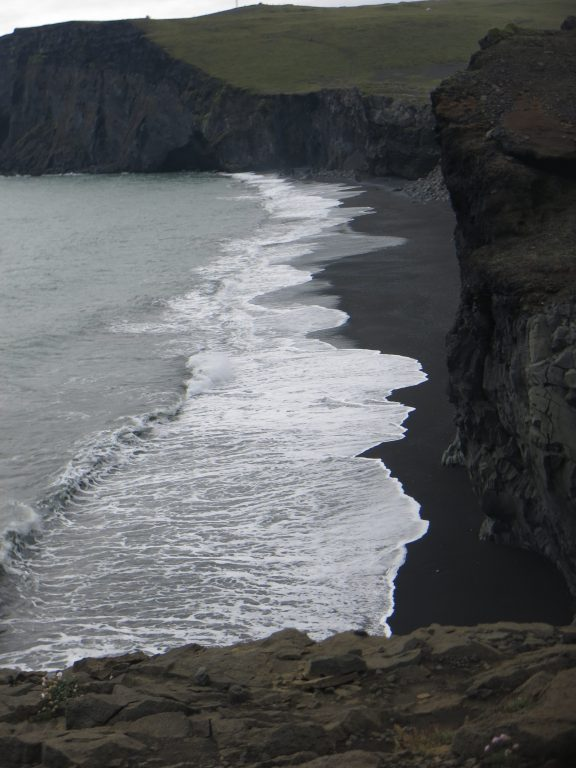 Volcanic black beach at Reynisdrangar