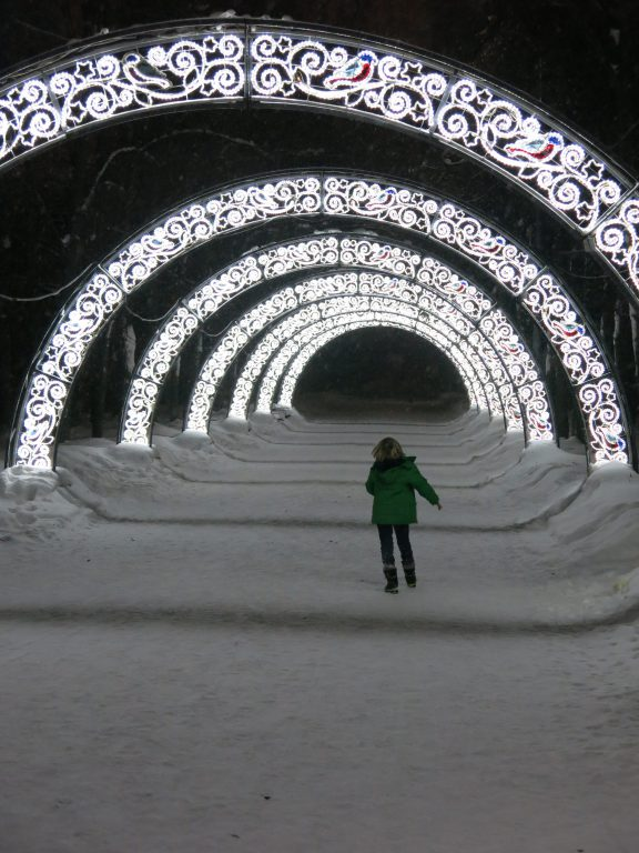 Tunnel of light, Moscow,