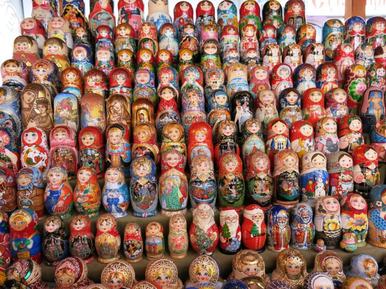 Russian Dolls at Vernissage Market