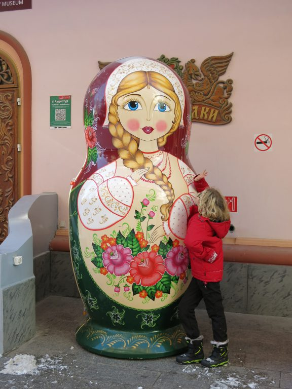 Huge Russian doll at Vernissage market, Moscow