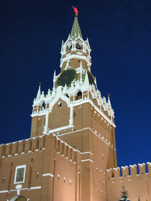 The Kremlin by night