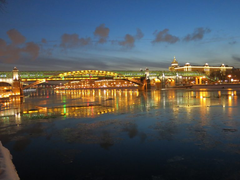 Moscow River by night