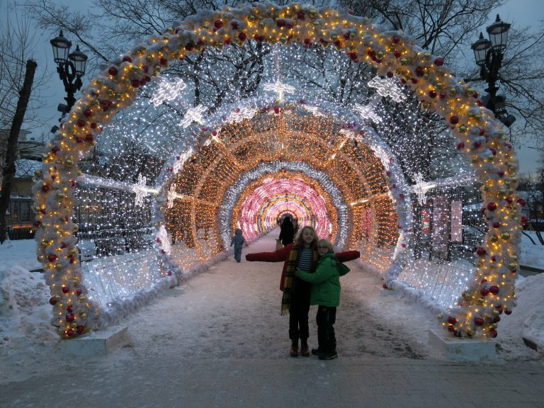 Tunnel of light, Moscow