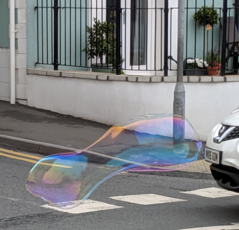 Large bubble in Tenby town