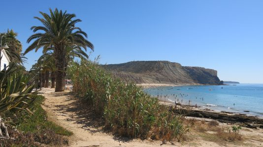 Beach at Praia de la Luz, near Lagos
