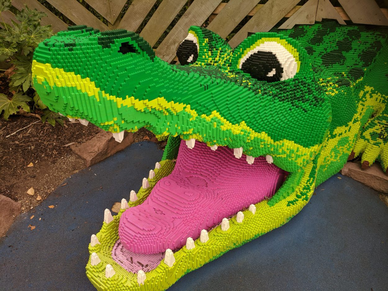 Lego crocodile, Legoland, Windsor with kids